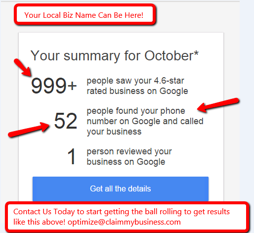 We Optimize Your Google Business Listing